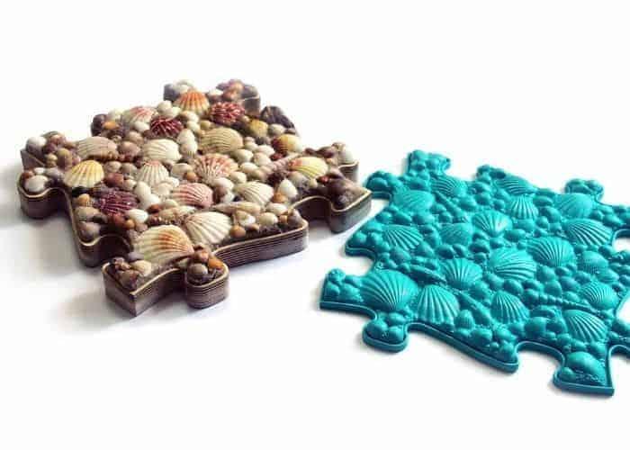 MUFFIK seashells mat and its original mold