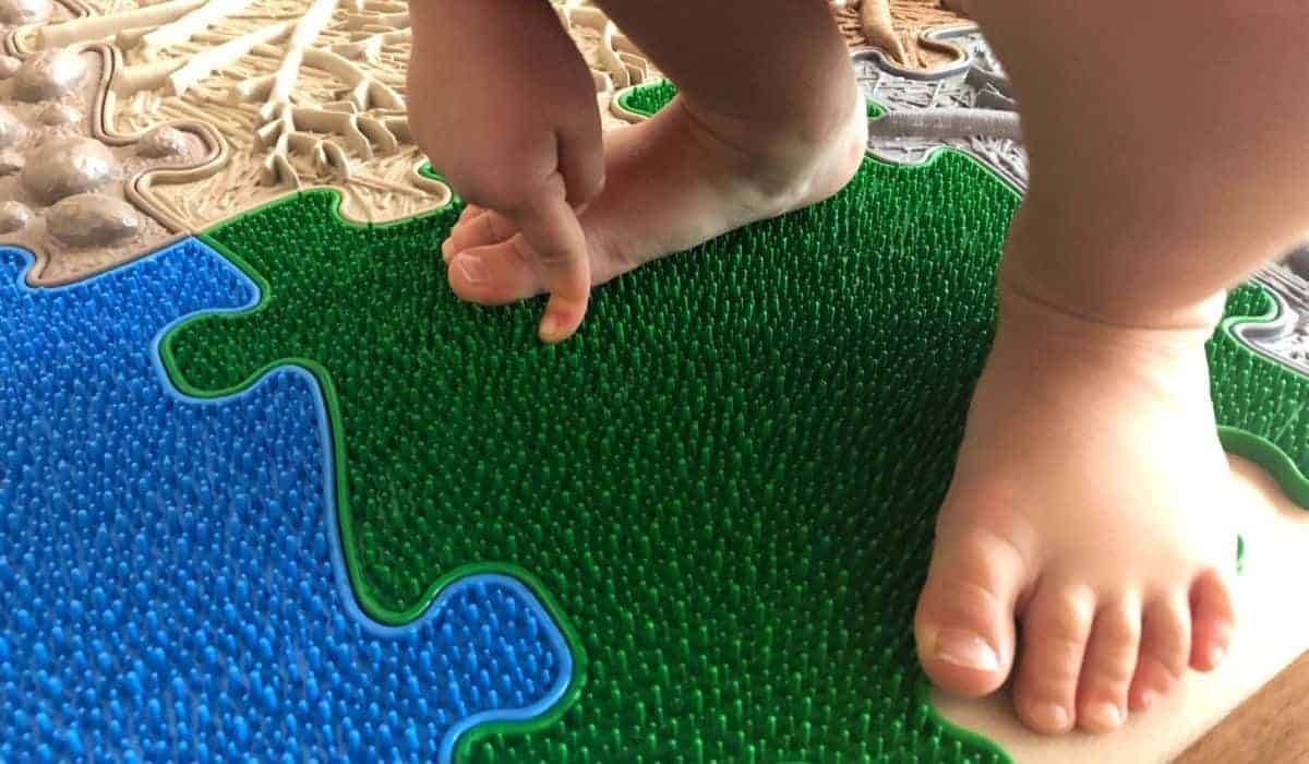 MUFFIK Sensory Playmats grass tile happy feet